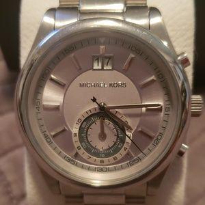 Michael Kors Unisex Silver Watch